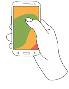 hand hold phone
